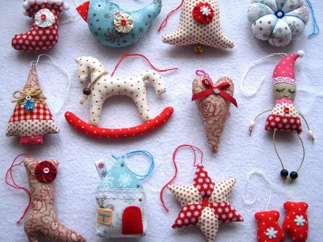 Текстильные новогодние игрушки своими руками выкройки фото 96