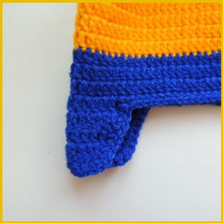 obvyazhem-kontur-stolbikom-bez-nakida Шапка спицами для мальчика на весну, осень, зиму: описание и схема. Как связать детскую шапку для мальчика спицами шлем, ушанку, миньон, с шарфом?