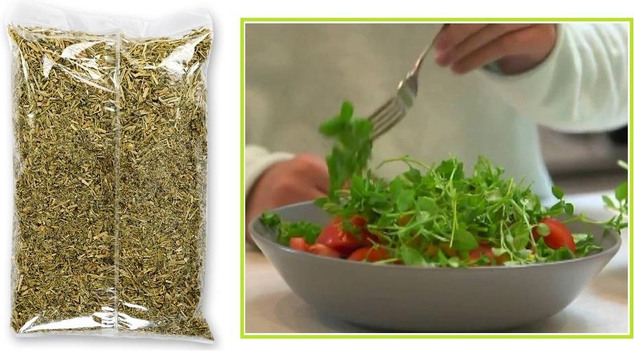 Трава сухая {amp}quot;мокрица{amp}quot; (можно купить в аптеке) и салат со свежей мокрицей