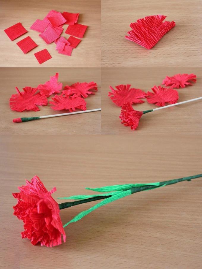 расширяем границы как сделать гвоздики из бумаги на открытку поэтапно того, чтобы