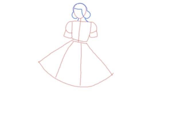 prostoi-risunok-zhenshini-v-odezhde-shag-4 Как рисовать ноги человека? Подробно рассмотрим строение и технику рисования