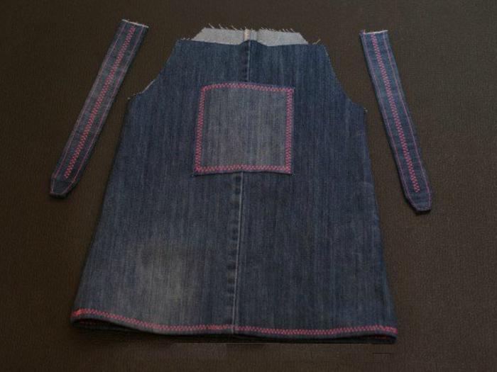 5d0df2628b78d149897d6baa21bf3733 Сарафан из старых джинсов своими руками: выкройки, как сшить детский сарафан