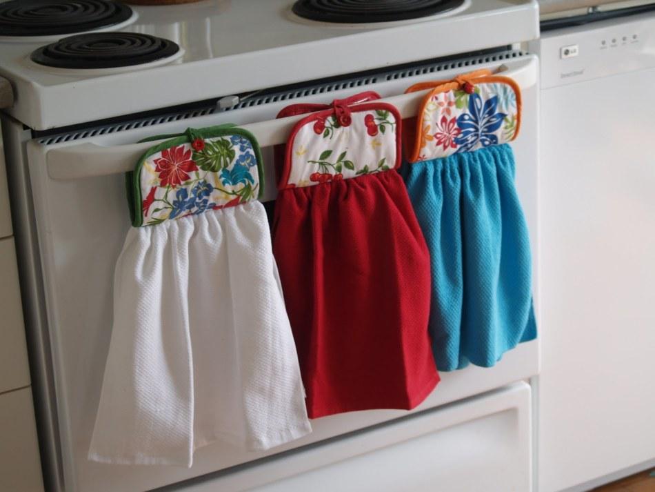 Полотенца для кухни из цветной ткани