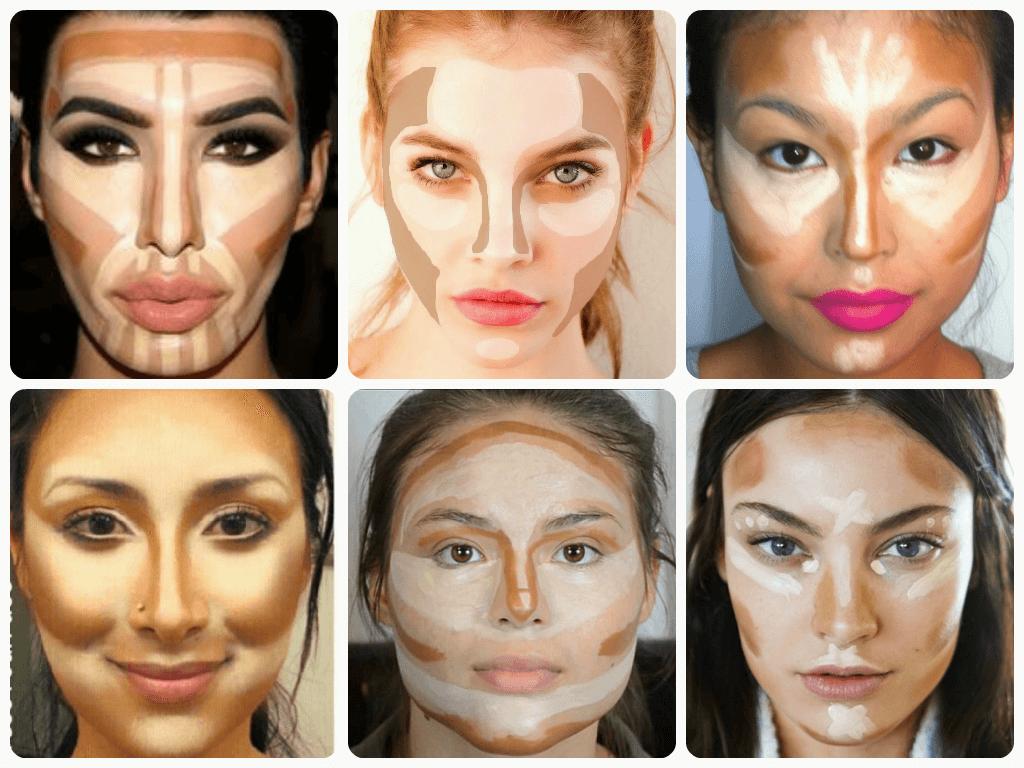 Схемы нанесения макияжа