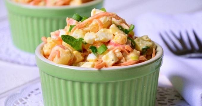 Закуски на скорую руку к пиву: салат-закуска