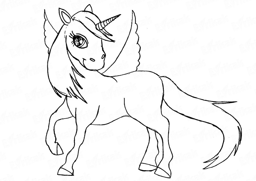 finalnii-shtrih---glaza-i-dlinnie-resnici Как нарисовать единорога Рисуем единорога поэтапно