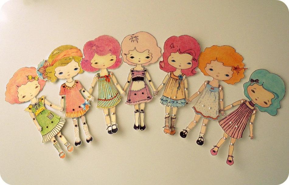 podvizhnie-kukolki-iz-kartona Куклы из бумаги своими руками (схемы, шаблоны) — Остров доброй надежды