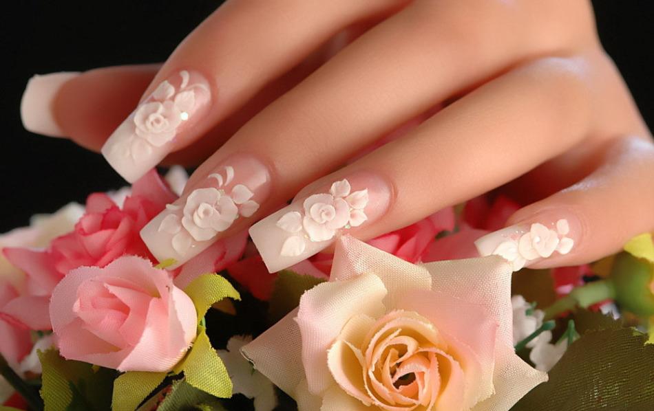 Нарощенные ногти для выполнения художественной лепки