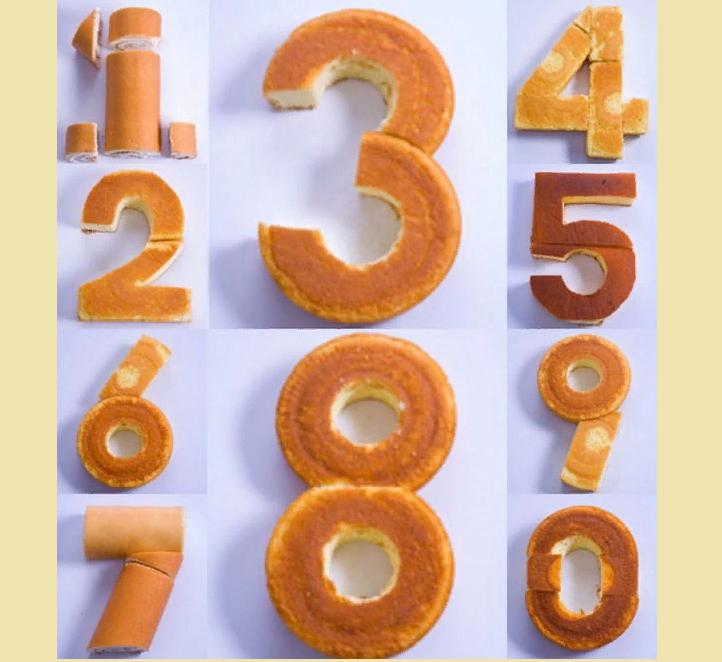 Цифра 3 из бисквита
