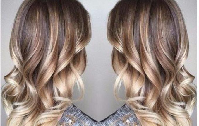 Светлое омбре на русые волосы