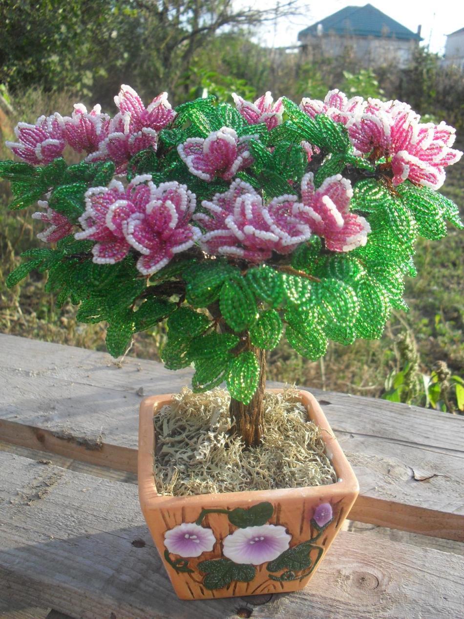 azaliya Как сделать своими руками цветы из бисера по схемам с видео и фото