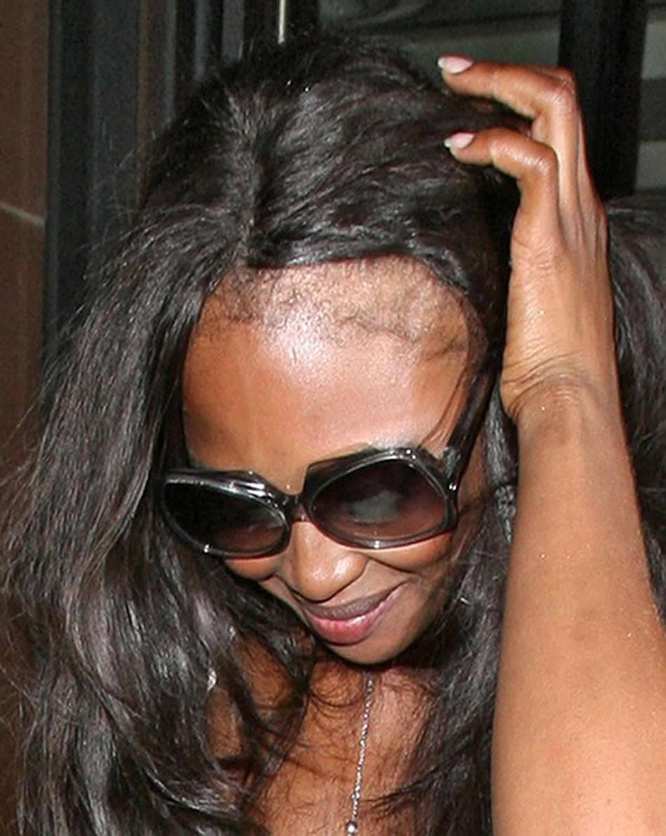 Наоми кэмпбелл - яркий пример разрушающей силы шампуня и наращивания волос