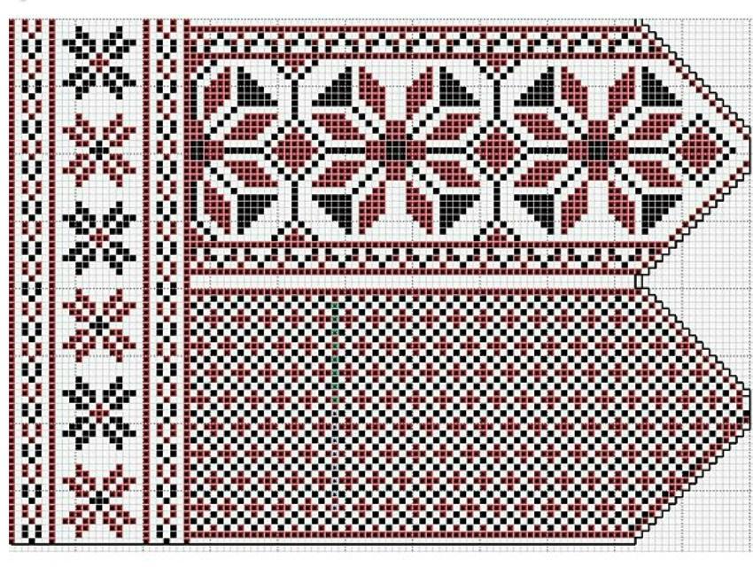 zhakkardovii-uzor-dlya-varezhek-spicami-primer-1 Варежки с откидным верхом крючком и спицами с описанием и видео