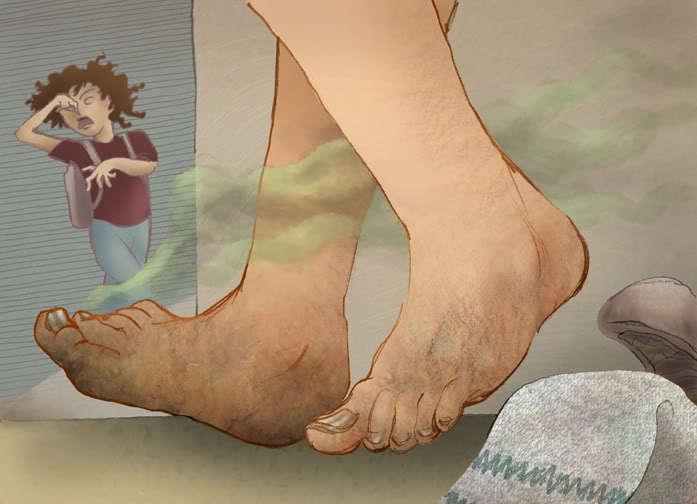 Кислый запах ног