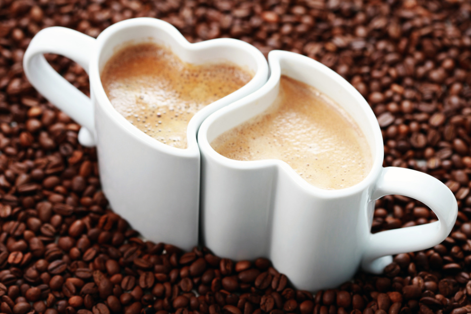 Парный подарок в виде двух кофейных кружек