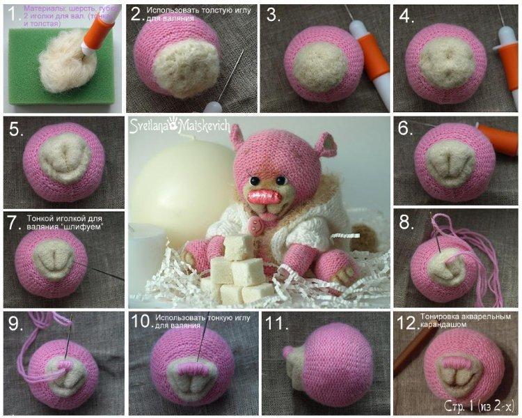 kak-sdelat-mordochku-mishke Как сделать простые мягкие игрушки своими руками