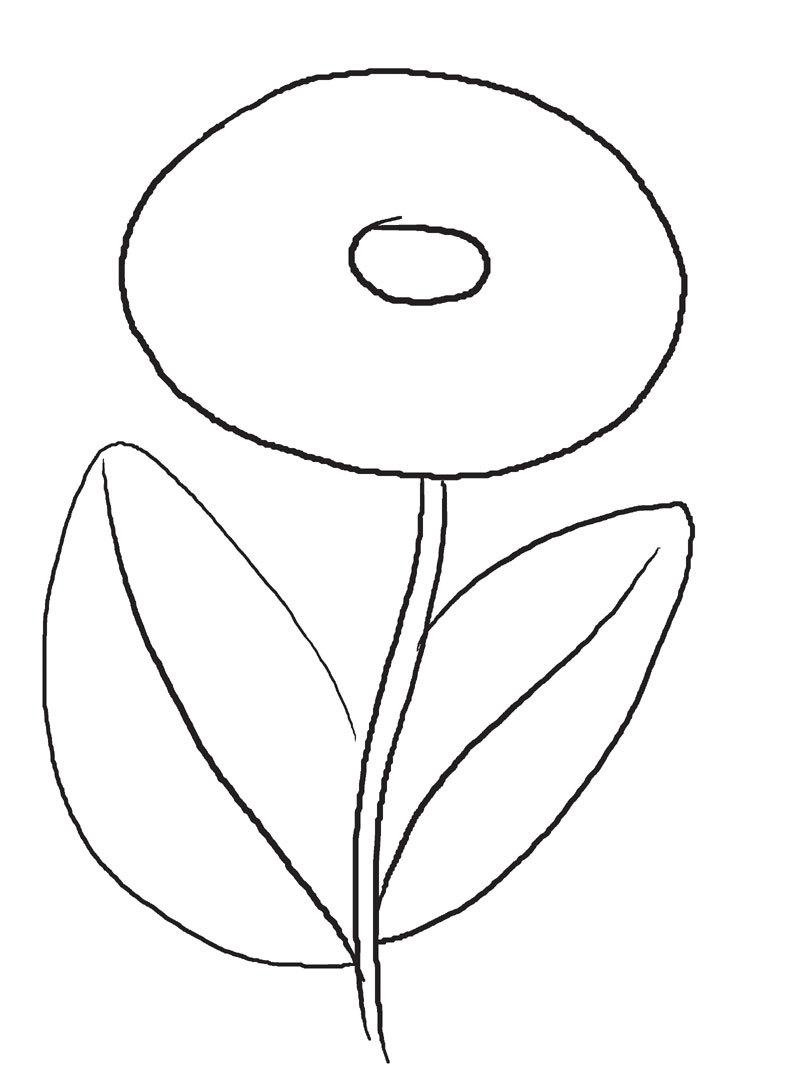 Как нарисовать хризантему карандашом: шаг 1 — схема цветка