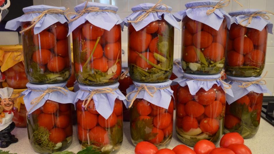 Засолка помидоров черри с сельдереем