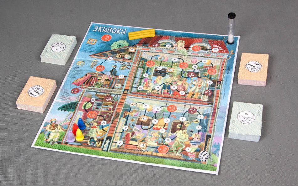 Настольная игра экивоки - подарок для позитивной творческой девушки