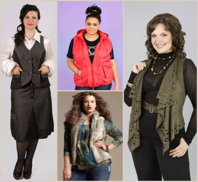 Модные жилеты для женщин с пышными формами