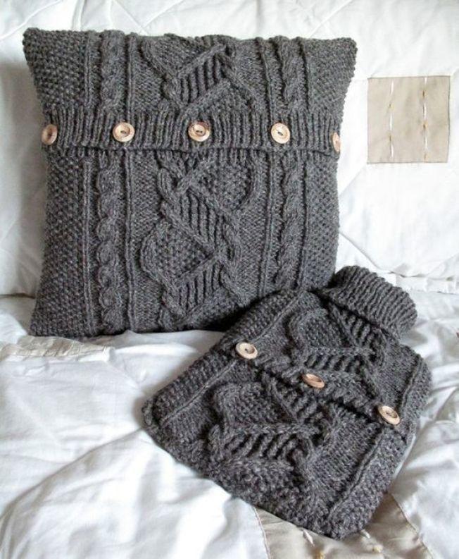 Фактурный декор из старого свитера