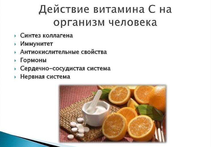 Действие витамина c на организм человека