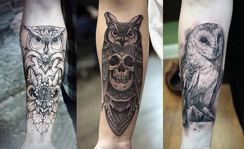 Что означает татуировка совы, филина на теле: примеры, фото ...
