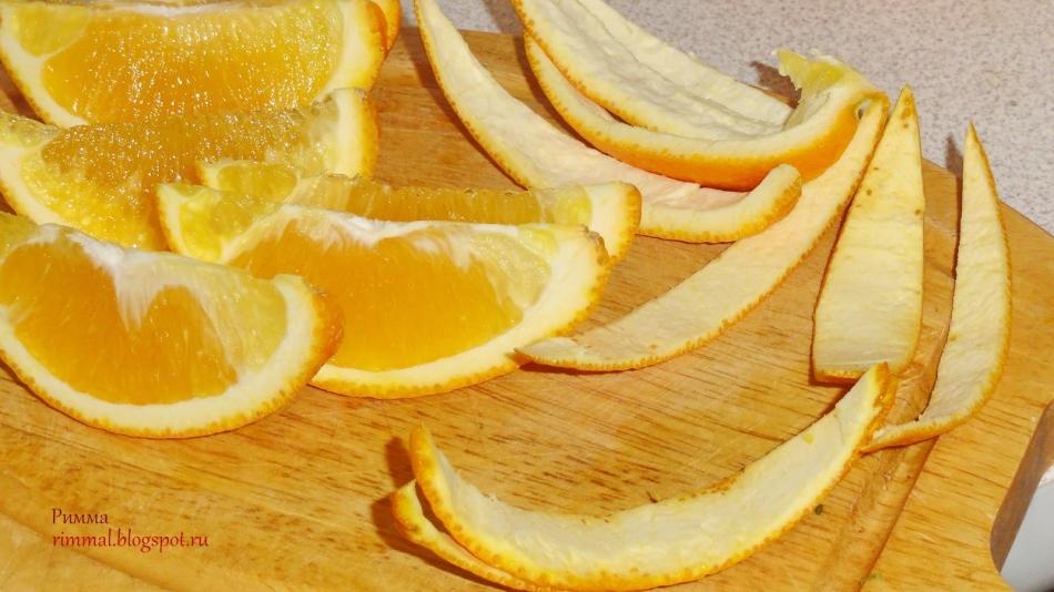 Подготовка апельсинов для апельсинового варенья