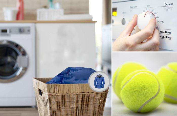 Стирать можно и с теннисными мячиками