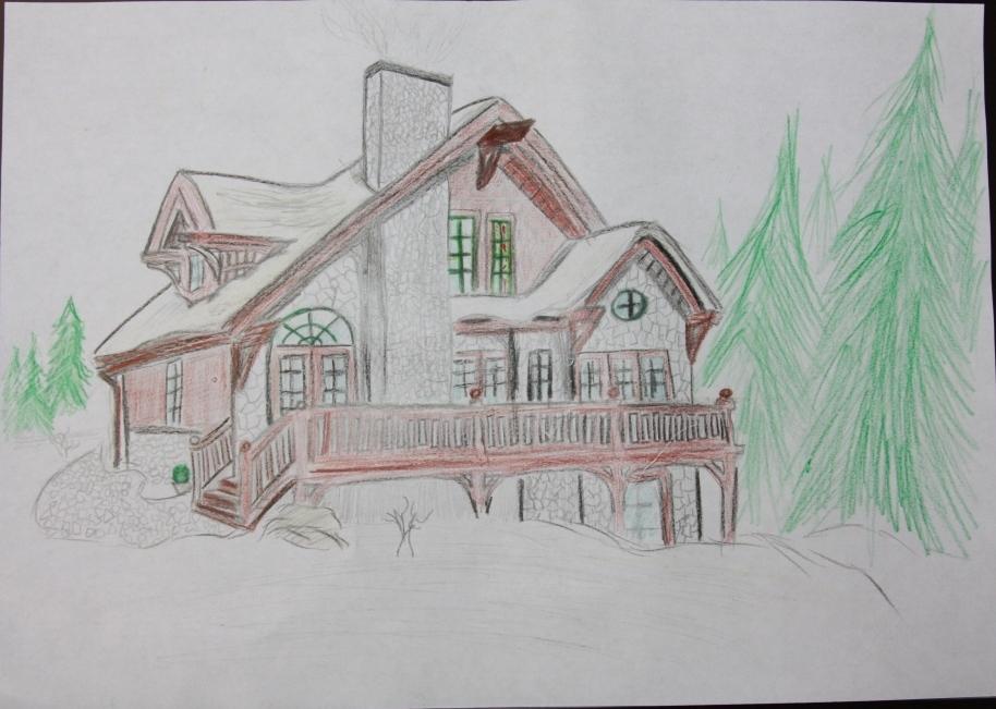 вам дом моей мечты картинки карандашом поэтапно относится