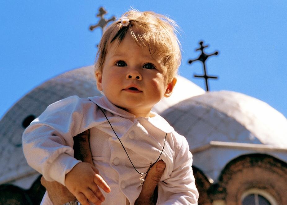 Крестик на ребенке