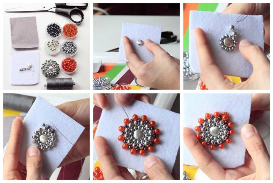 6fab3238ddb6e6caac717256dbf5edc9 Как сделать брошь из бисера своими руками для начинающих