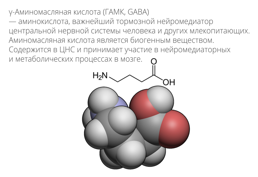 Строение γ-аминомасляной кислоты
