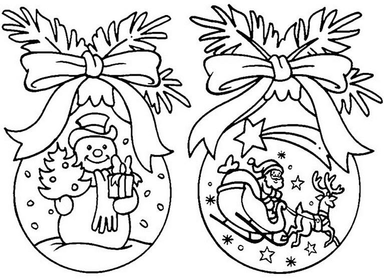 картинки шаров на новый год на окна этих