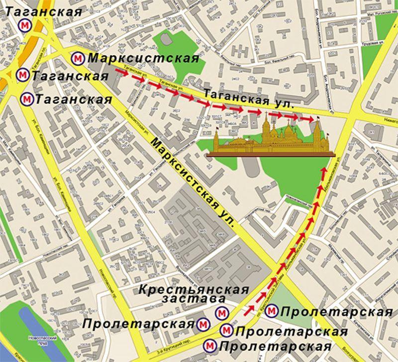 Расположение покровского женского монастыря москвы на карте