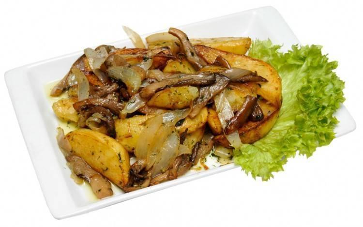 Картофель с вешенками