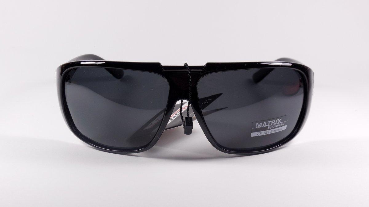 Спортивные черные солнцезащитные мужские очки matrix