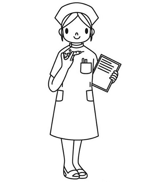 Медсестра картинка для детей раскраска