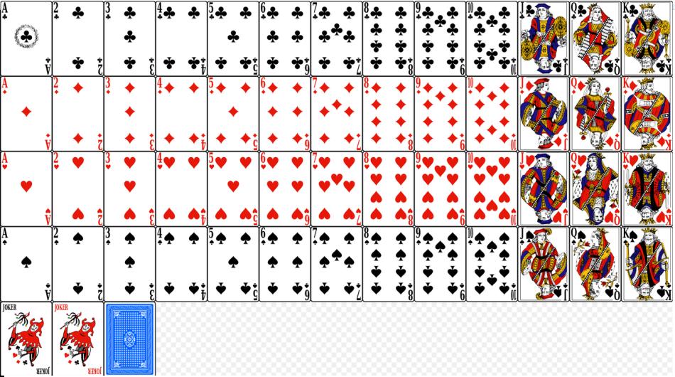 Стандартная колода из 54 карт