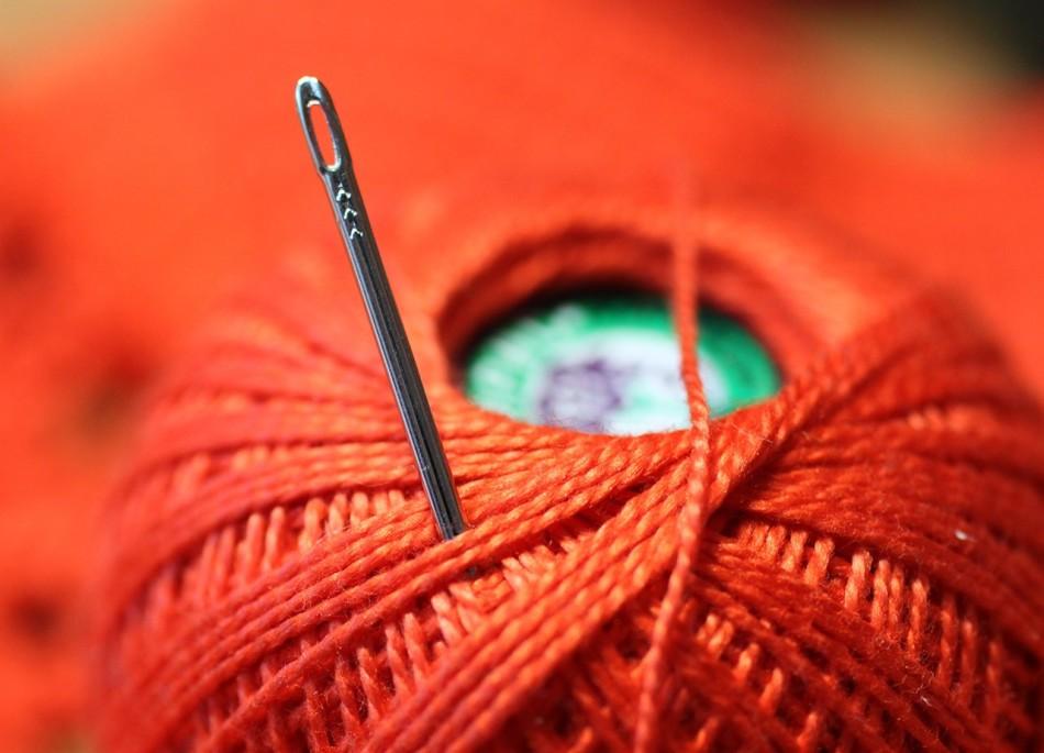 В процессе шитья