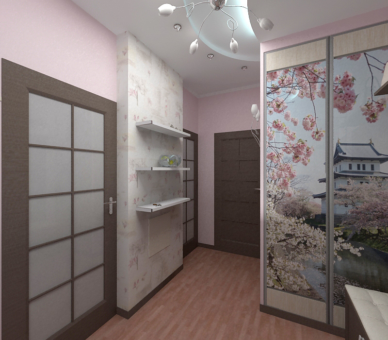 dekupazh-shkafa-oboyami-s-vostochnimi-motivami Декупаж старого шкафа своими руками фото: кухонный мастер-класс, как сделать оформление двери шкафчика