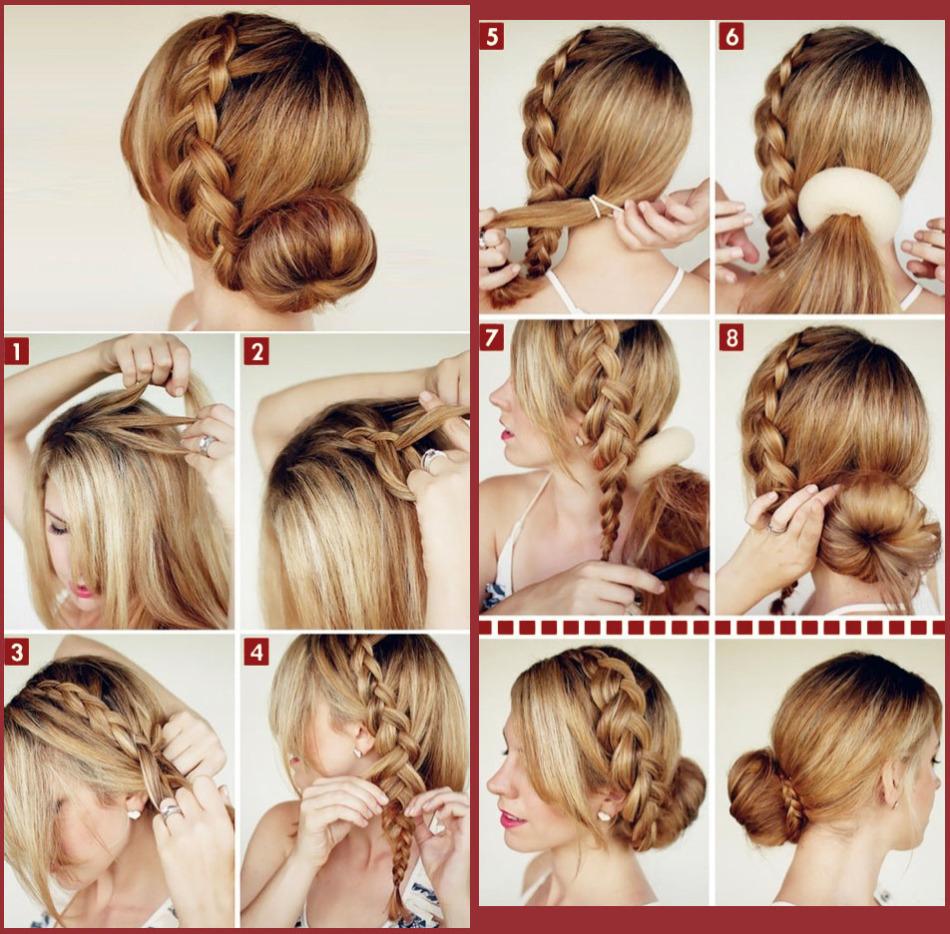Прически для средних волос поэтапно в картинках