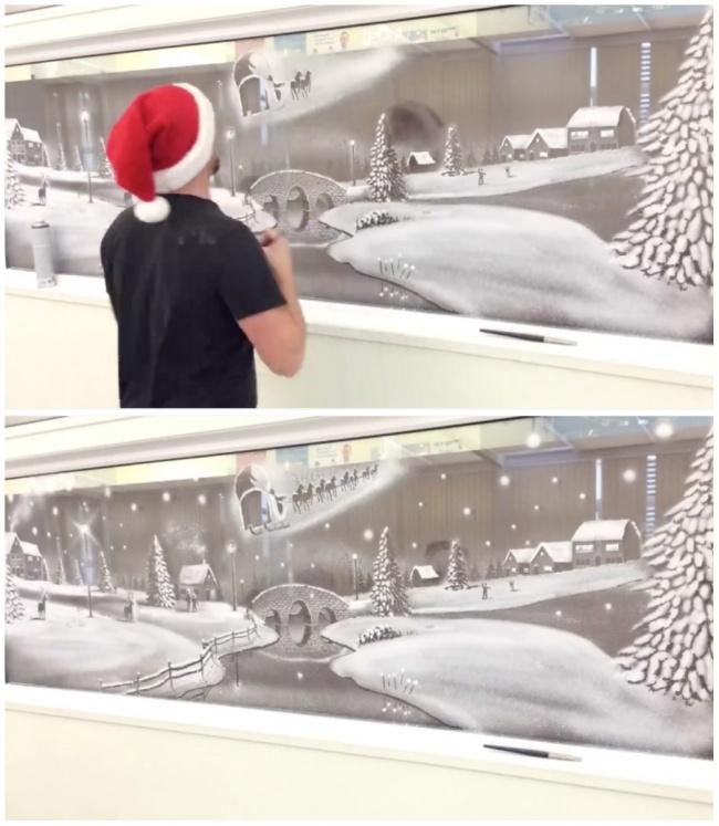 Расшифруйте картинки например мороз разрисовал окно