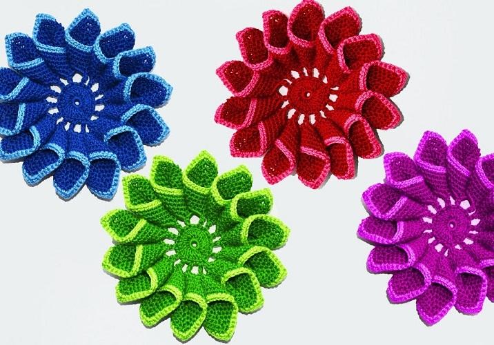 neveroyatnaya-krasota Объемные цветы крючком схемы с описанием, видео как связать объемный цветок
