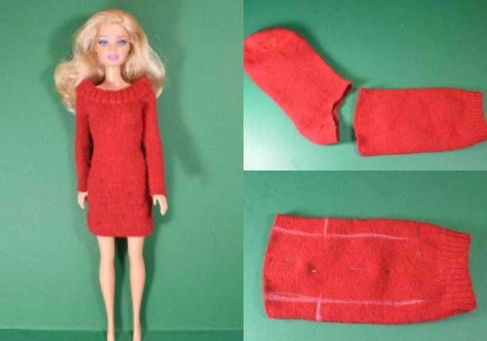 Как сделать платье для куклы для начинающих фото 935