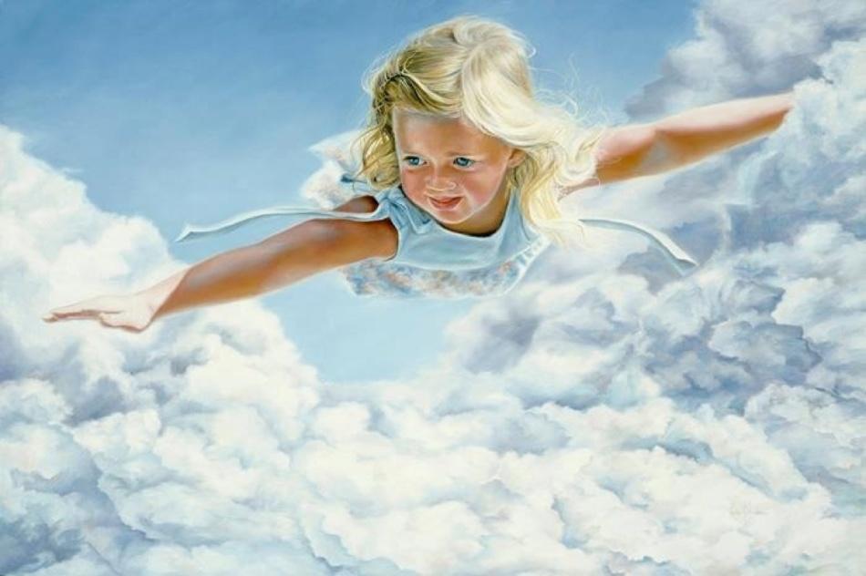 Картинки ребенок в небе