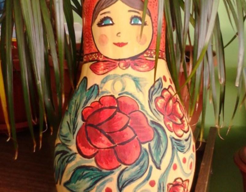 matreshka Осенние поделки из тыквы своими руками: 12 красивых и оригинальных поделок из тыквы для детского сада и школы