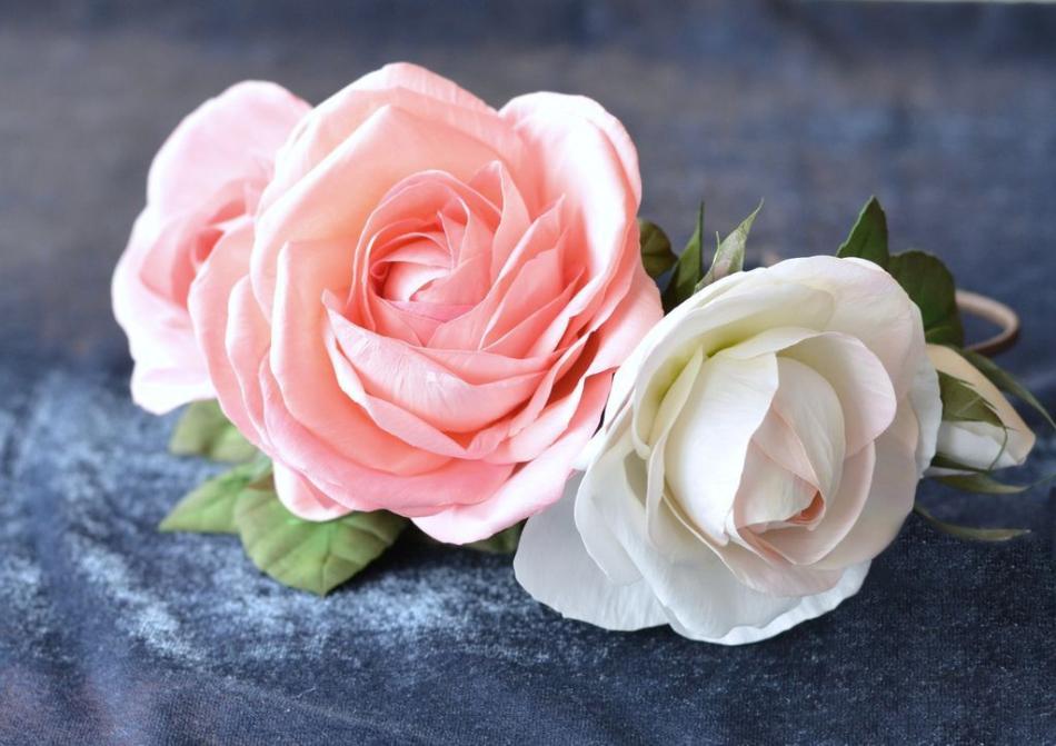 розы из фома фото мк варианта легко