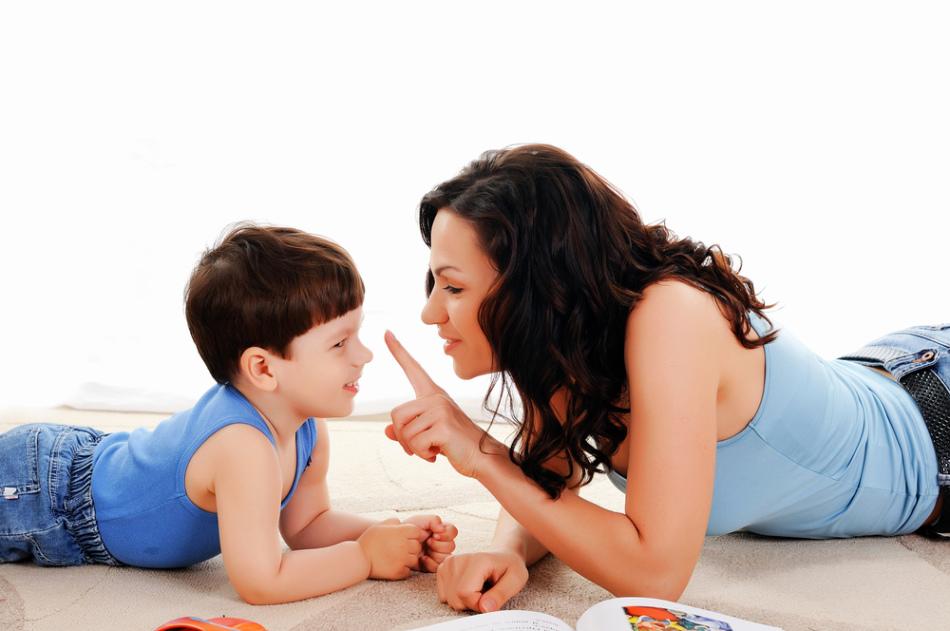 Игра мамы с сыном