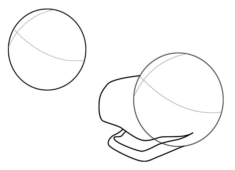 Динозавр тирекс карандашом, шаг 1